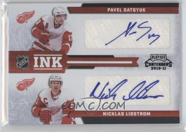 2010-11 Panini Playoff Contenders NHL Ink [Autographed] #DET - Jimmy Howard, Nicklas Lidstrom, Pavel Datsyuk, Tomas Holmstrom /5