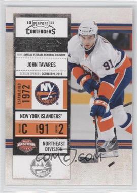 2010-11 Panini Playoff Contenders #12 - John Tavares