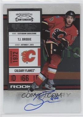 2010-11 Panini Playoff Contenders #123 - Rookie Ticket - T.J. Brodie