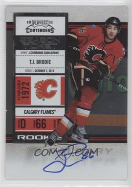 2010-11 Panini Playoff Contenders #123 - T.J. Brodie