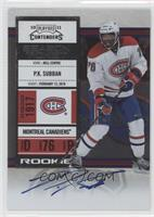 Rookie Ticket - P.K. Subban