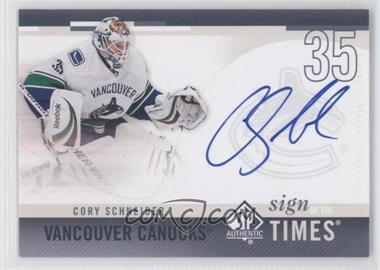 2010-11 SP Authentic [???] #SOT-SC - Cory Schneider