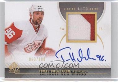 2010-11 SP Authentic Limited Autograph Patch [Autographed] [Memorabilia] #6 - Tomas Holmstrom /100