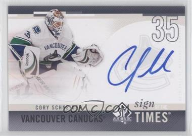 2010-11 SP Authentic Sign of the Times #SOT-SC - Cory Schneider