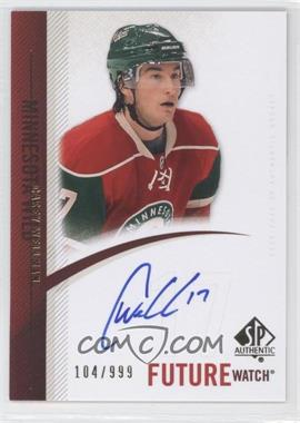 2010-11 SP Authentic #276 - Casey Wellman /999