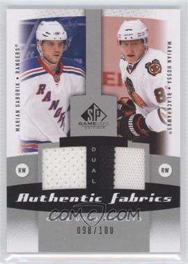2010-11 SP Game Used Edition - Dual Authentic Fabrics #AF2-HG - Marian Hossa, Marian Gaborik /100