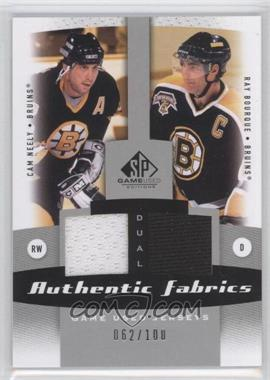 2010-11 SP Game Used Edition - Dual Authentic Fabrics #AF2-NB - Cam Neely, Ray Bourque /100