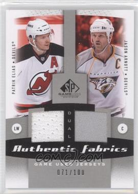 2010-11 SP Game Used Edition Dual Authentic Fabrics #AF2-AE - Patrik Elias, Jason Arnott /100