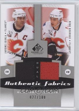 2010-11 SP Game Used Edition Dual Authentic Fabrics #AF2-IB - Jarome Iginla, Rene Bourque /100