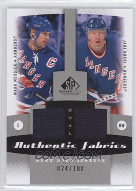 2010-11 SP Game Used Edition Dual Authentic Fabrics #AF2-KM - [Missing] /100