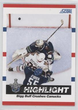 2010-11 Score Glossy #497 - Stanley Cup Playoffs Highlight - Bigg Buff Crushes Canucks (Dustin Byfuglien)