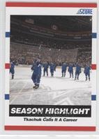 Season Highlight - Tkachuk Calls It A Career (Keith Tkachuk)