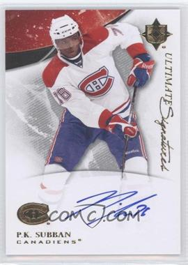 2010-11 Ultimate Collection Ultimate Signatures #US-PS - P.K. Subban