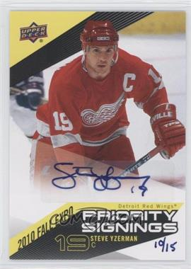 2010-11 Upper Deck Priority Signings 2010 Fall Expo [Autographed] #PS-YZ - Steve Yzerman /15