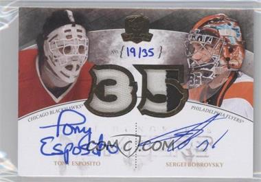 2010-11 Upper Deck The Cup Honorable Numbers Patch Dual Autographs #DHN-ES - Tony Esposito, Sergei Bobrovsky /35
