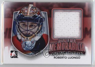 2011-12 In the Game Between the Pipes - Masked Men Memorabilia #MMM-26 - Roberto Luongo /10