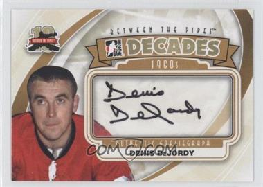 2011-12 In the Game Between the Pipes Authentic Goaliegraph #A-DD - Decades 1960s - Denis DeJordy