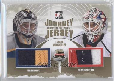 2011-12 In the Game Between the Pipes Journey Jersey Gold #JJ-09 - Tomas Vokoun