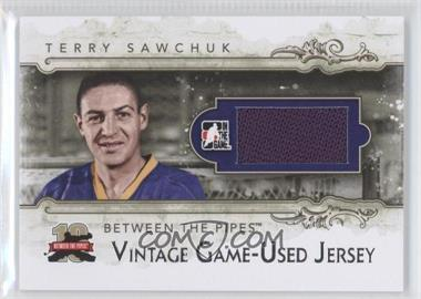 2011-12 In the Game Between the Pipes Vintage Game-Used Memorabilia Silver Jersey #VM-08 - Terry Sawchuk