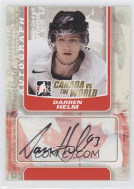 2011-12 In the Game Canada VS the World Autographs #A-DHE - Darren Helm