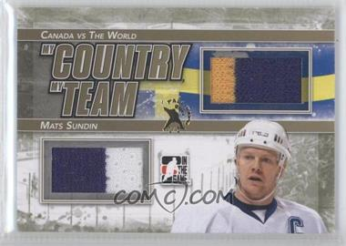 2011-12 In the Game Canada VS the World My Country My Team Gold Fall Expo #MCMT-10 - Mats Sundin /1