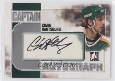 2011-12 In the Game Captain-C Series Autograph Silver #A-CH - Craig Hartsburg