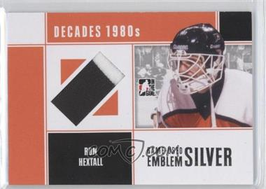 2011-12 In the Game Decades 1980s Game-Used Emblem Silver #M-58 - Ron Hextall