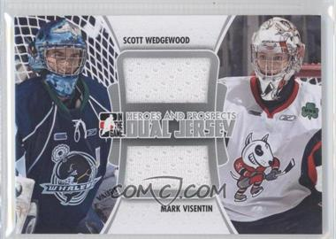 2011-12 In the Game Heroes and Prospects - Dual Jersey - Silver #DJ-04 - Mark Visentin, Scott Wedgewood /80