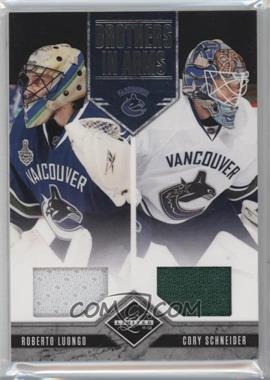 2011-12 Limited - Brothers In Arms Materials #15 - Cory Schneider, Roberto Luongo /199