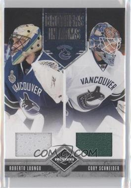2011-12 Limited Brothers In Arms Materials #15 - Cory Schneider, Roberto Luongo /199