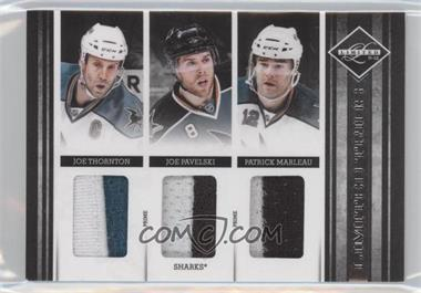 2011-12 Limited Limited Trios Materials Prime #9 - Joe Pavelski, Joe Thornton, Patrick Marleau /25