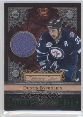 2011-12 Panini Crown Royale Lords of the NHL Memorabilia Prime [Memorabilia] #25 - Dustin Byfuglien