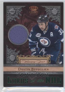 2011-12 Panini Crown Royale Lords of the NHL Memorabilia Prime [Memorabilia] #25 - Dustin Byfuglien