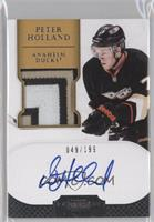 Autographed Rookie Patches - Peter Holland /199