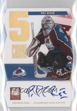 2011-12 Panini Elite Prime Numbers Autograph [Autographed] #4 - Patrick Roy /551