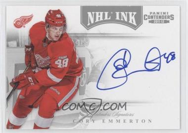 2011-12 Panini Playoff Contenders NHL Ink #16 - Cory Emmerton