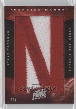 2011-12 Panini Prime Genuine Marks Letter Patches Signatures #95 - Steve Yzerman /7