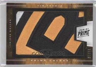 2011-12 Panini Prime Prime Colors Horizontal Patches #7 - Tim Thomas /18