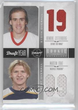 2011-12 Panini Rookie Anthology - Draft Year Combos Materials #4 - Henrik Zetterberg, Martin Erat
