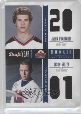 2011-12 Panini Rookie Anthology Draft Year Combos Materials #6 - Jason Pominville, Jason Spezza