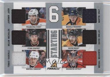 2011-12 Panini Rookie Anthology Pinnacle Starting 6 Materials #30 - Martin Erat, Michal Neuvirth, Milan Michalek, Tomas Kaberle, David Krejci, Jaromir Jagr /200