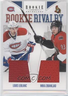 2011-12 Panini Rookie Anthology Rookie Rivalry Materials #54 - Louis Leblanc, Mika Zibanejad