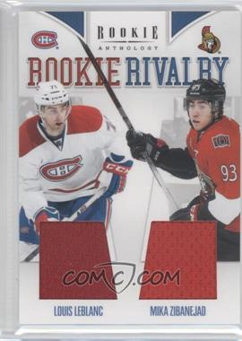 2011-12 Panini Rookie Anthology Rookie Rivalry Materials #54 - Louis Leblanc, Mika Zibanejad