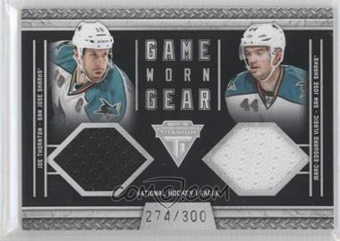 2011-12 Panini Titanium Game-Worn Gear Dual Memorabilia #42 - Joe Thornton, Marc-Edouard Vlasic /300