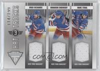 Brandon Dubinsky, Marc Staal, Brad Richards /199