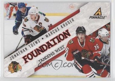 2011-12 Pinnacle - Foundation Tandems West #2 - Jonathan Toews, Marcus Kruger