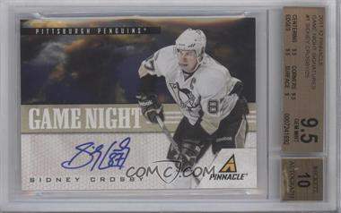 2011-12 Pinnacle - Game Night - Signatures [Autographed] #1 - Sidney Crosby /25 [BGS9.5]