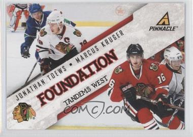 2011-12 Pinnacle Foundation Tandems West #2 - Jonathan Toews, Marcus Kruger