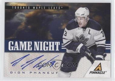 2011-12 Pinnacle Game Night Signatures [Autographed] #44 - Dion Phaneuf /25