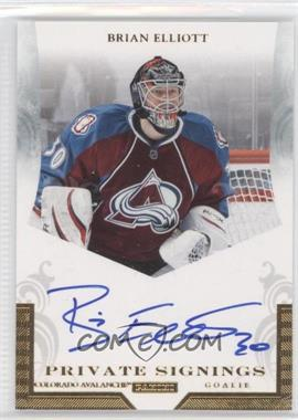 2011-12 Pinnacle Private Signings #BE - Brian Elliott
